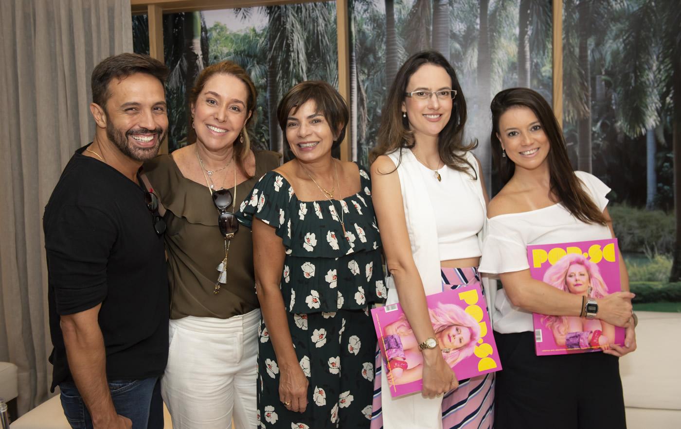 Alexandre Cardim, Anna Malta, Emmilia Cardoso, Camila Fleck e Chris Bernardes